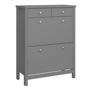 Steens Tromso Grey Shoe Cabinet From The Other Side-Better Bed Company