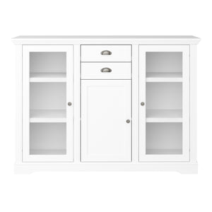 Steens Venice White 3 Door 2 Draw Side Board-Better Bed Company