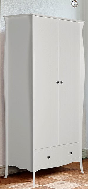 Steens Baroque White 2 Door Wardrobe