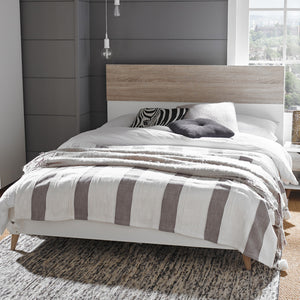 LPD Furniture Stockholm Oak Bed-Better Bed Company