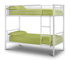 Adelyne White Bunk Bed-Bunk Beds-Jay Bow Beds-Better Bed Company