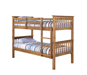 The Leo Bunk Bed-Bunk Beds-LP Beds-Bunk Bed-Pine Colour-Better Bed Company
