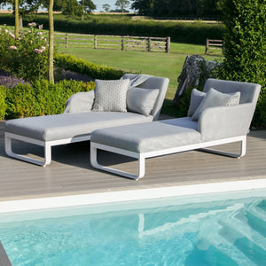 Maze Rattan Unity Double Sunlounger-Garden Furniture-Maze Rattan-Flanelle-No Table-Better Bed Company