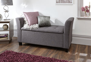 GFW Verona Fabric Window Seat-GFW-Grey-Better Bed Company