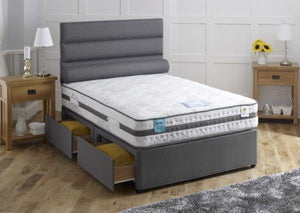 Vogue Beds Cloud Gel 2000 Mattress As A Divan Bed-Better Bed Company