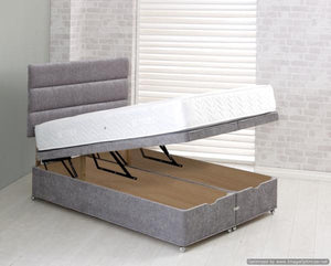 Vogue Beds Fabric Ottoman Bed-Vogue Beds-Single-Silver-No Headboard-Better Bed Company