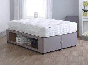 Vogue Beds Maxi fabric Storage Bed-Vogue Beds-Single-Wool Textured Chrome-Better Bed Company