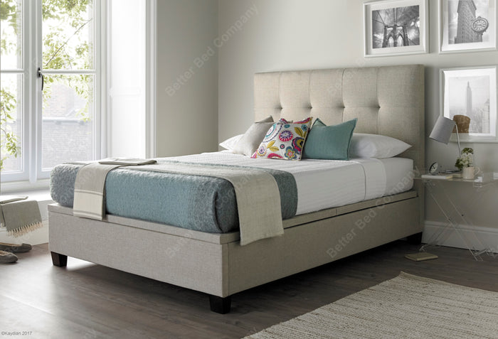 Kaydian Walkworth Pendle Oatmeal Ottoman Bed Frame