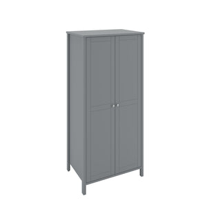 Steens Tromso Grey 2 Door Wardrobe-Better Bed Company