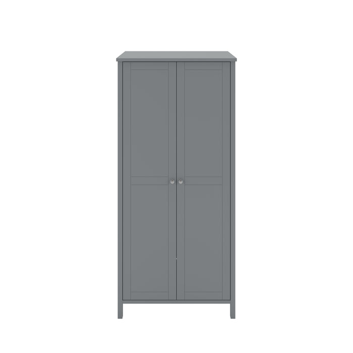 Steens Tromso Grey 2 Door Wardrobe