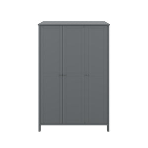 Steens Tromso Grey 3 Door Wardrobe-Better Bed Company
