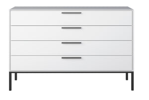 Steens Slim Line White 4 Drawer Chest-Better Bed Company