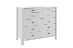 Steens Tromso 2 + 4 White Chest Of Draws-Better Bed Company