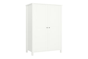 Steens Tromso White 2 Door Wardrobe-Better Bed Company