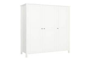 Steens Tromso White 3 Door Wardrobe-Better Bed Company