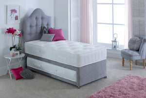 Bedmaster Memory Maestro Guest Bed-Guest Beds-Bedmaster-Single-Linen Linoso Slate-No Headboard-Better Bed Company