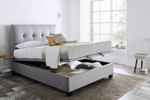 Kaydian Walkworth Marbella Dark Grey Ottoman Bed Frame Open View-Better Bed Company