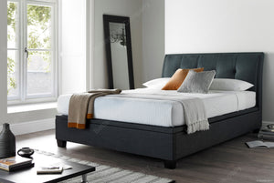 Kaydian Accent Pendle Slate Ottoman Bed Frame-Ottoman Beds-Kaydian-4ft 6 Double-Better Bed Company