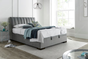 Kaydian Lanchester Velvet Plume Ottoman Bed Frame-Ottoman Beds-Kaydian-4ft 6 Double-Better Bed Company