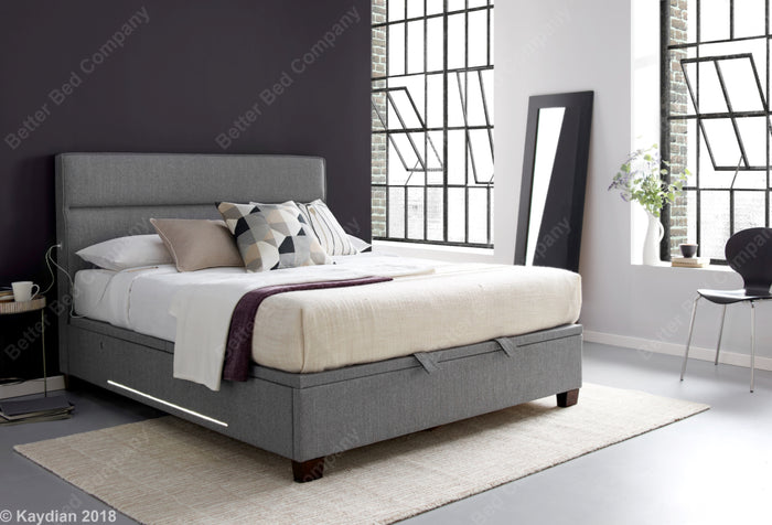 Kaydian Chilton Artemis Light Grey Ottoman Bed Frame