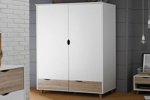 LPD Furniture Stockholm 2 Door Wardrobe-Better Bed Company
