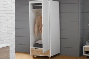 LPD Furniture Stockholm 1 Door Wardrobe-Better Bed Company