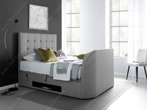 Kaydian Barnard Light Grey Artemis Ottoman TV Bed-Better Bed Company