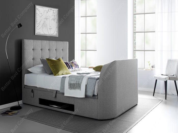 Kaydian Barnard Light Grey Artemis Ottoman TV Bed