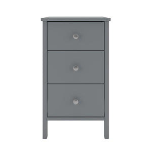 Steens Tromso Grey 3 Draw Bed Side Table-Steens-Better Bed Company