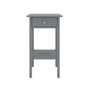 Steens Tromso Grey Night Stand-Better Bed Company