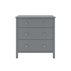 Steens Tromso 3 Draw Grey Chest Of Draws-Better Bed Company
