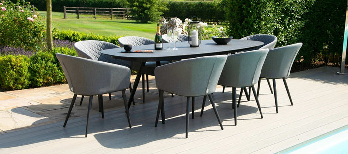 Maze Rattan Ambition 8 Seat Oval Dining Set