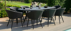 Maze Rattan Ambition 8 Seat Oval Dining Set-Better Bed Company