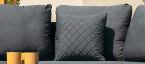 Maze Rattan Fabric Scatter Cushions Charcoal-Better Bed Company