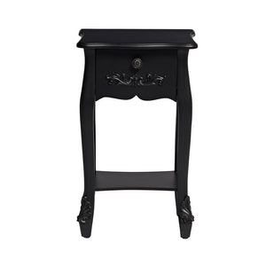 LPD Furniture Antoinette 1 Drawer Black Nighstand-Better Bed Company