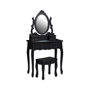 LPD Furniture Antoinette Black Dressing Table Set-Dressing Tables-Better Bed Company