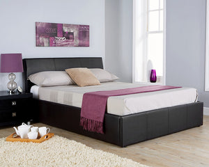 GFW Ascot Leather Ottoman Bed-Better Bed Company