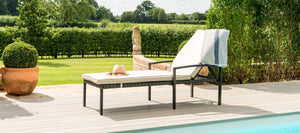 Maze Rattan Austin Sunlounger-Garden Furniture-Better Bed Company