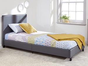 GFW Leather Bed In A Box Grey-Better Bed Company