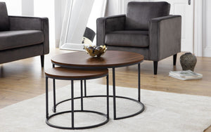 Julian Bowen Bellini Round Nesting Coffee Table-Julian Bowen-Better Bed Company