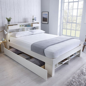 Bedmaster Fabio Bed Frame-Ottoman Beds-Bedmaster-Double-No Draw-No Mattress-Better Bed Company