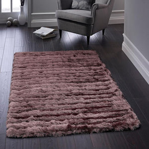Origins Carved Glamour Rug Mauve-Better Bed Company