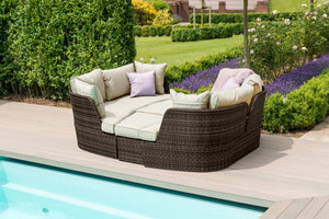 Maze Rattan Cheltenham Daybed-Garden Furniture-Maze Rattan-Brown-Better Bed Company