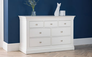 Julian Bowen Clermont 4+3 Drawer Chest-Better Bed Company