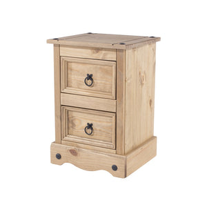 Core Products Corona 2 Drawer Petite Bedside Cabinet-Better Bed Company