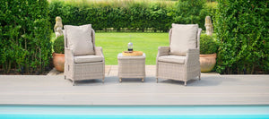 Maze Rattan Cotswold Reclining 2 Seat Lounge Set-Better Bed Company