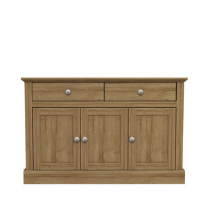 LPD Furniture Devon Oak 3 Door 2 Drawer Sideboard-Better Bed Company
