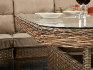 Signature Weave Diana Corner Dining Sofa Set Close Up Detail-Better Bed Company