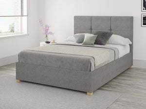 Better Bed Company Dunkirk Grey Linen Ottoman Bed-Better Bed Company
