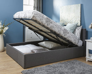 GFW End Lift Fabric Ottoman Bed